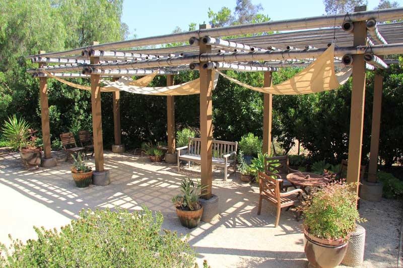 facility backyard patio - Water Conservation Garden