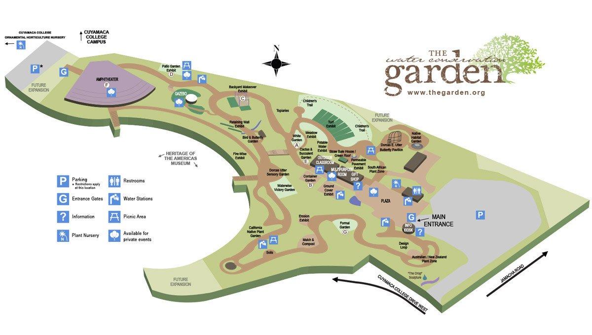 garden map 2015 - Water Conservation Garden