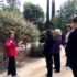 Docent teaches visitors of The Garden