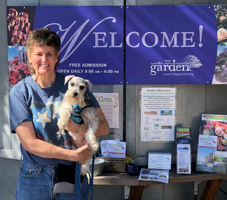 Diane Nelson & Service Dog Keoki