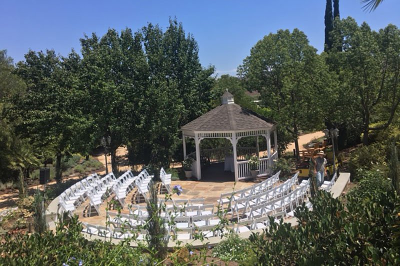 Gazebo with seating area for events