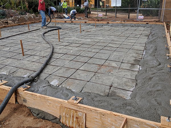 Education Center Foundation pouring top layer