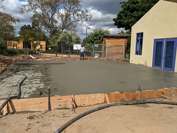 Education Center Foundation pouring top layer almost complete
