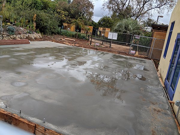 Education Center Foundation pouring completed