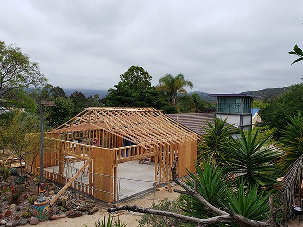 Education Center Trusses almost done