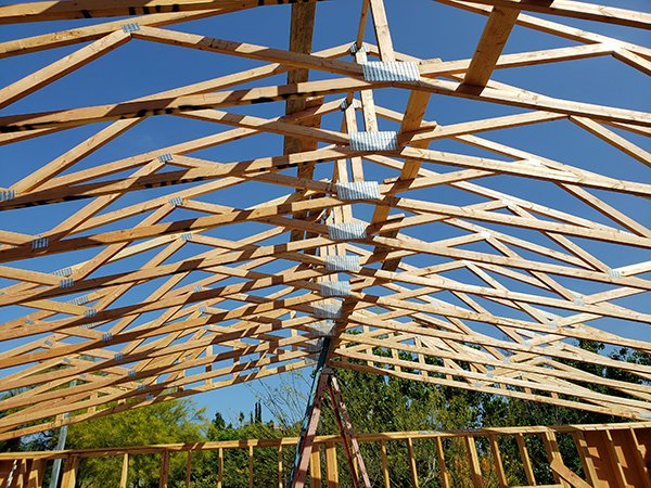 Education Center Trusses completed