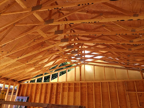Education Center roofing interior