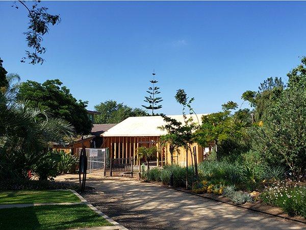 Education Center Nestled in The Garden
