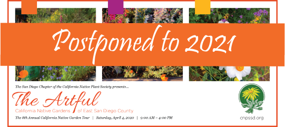 CNPS-San Diego Garden Tour - POSTPONED to April 2021