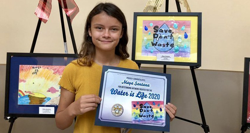 Student Artists Featured in 2020 'Water Is Life' Calendar