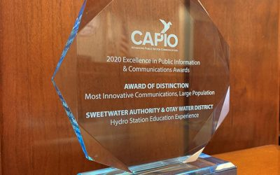 Sweetwater Auth Wins Statewide Award